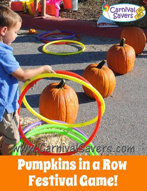 Pumpkins in a Row Fall Festival Game
