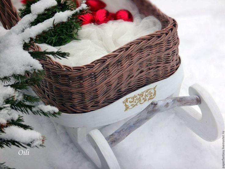 """Купить сани для фотосессий """"Морозко"""" - комбинированный, санта, сани новогодние, реквизит для фотосессии, фотосессия малышей"""