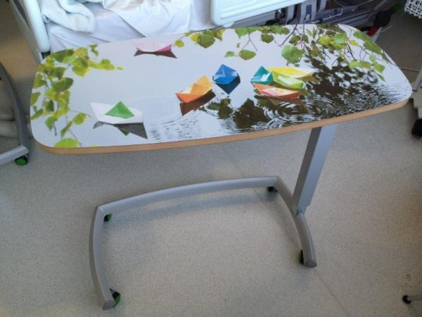 One of the tables from the new instillation at the Royal London Hospital ... image from the Ella Doran collection at Surface View ... and produced with the help of Formica ... what do you think?