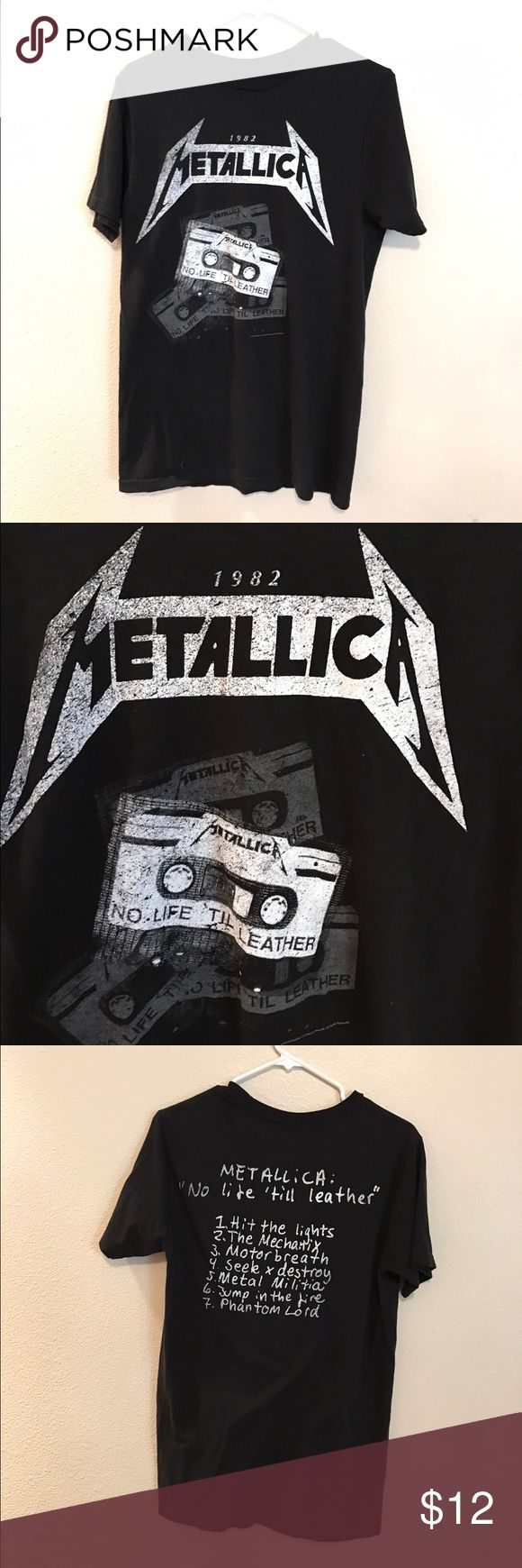 Metallica Tshirt Vintage Metallica Tour Tshirt standard fit 100% cotton Shirts Tees - Short Sleeve