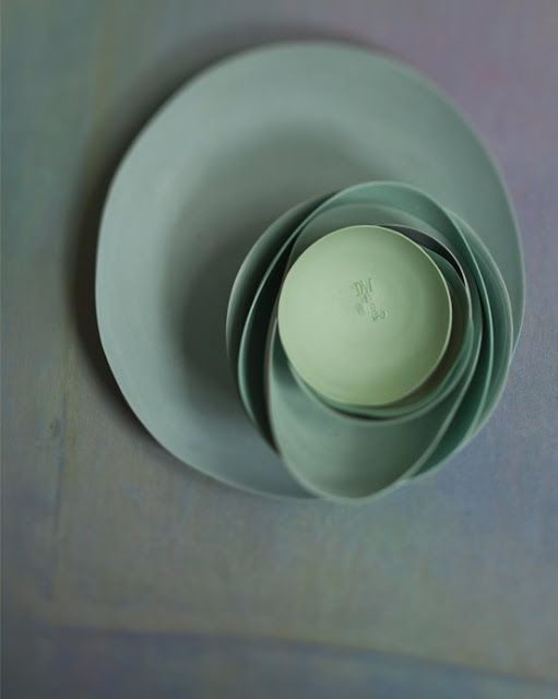 photo : dietlind wolf my celadons with coloured porcelain non glazed.