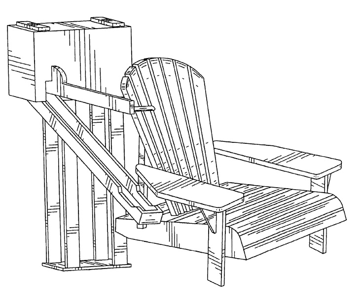 Lawn Chair + Beer Dispenser