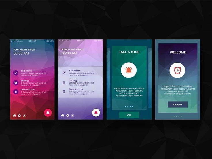 Triangle : Notification App UI