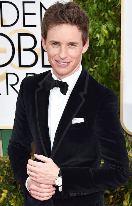 Eddie Redmayne at Golden Globe Awards 2015....