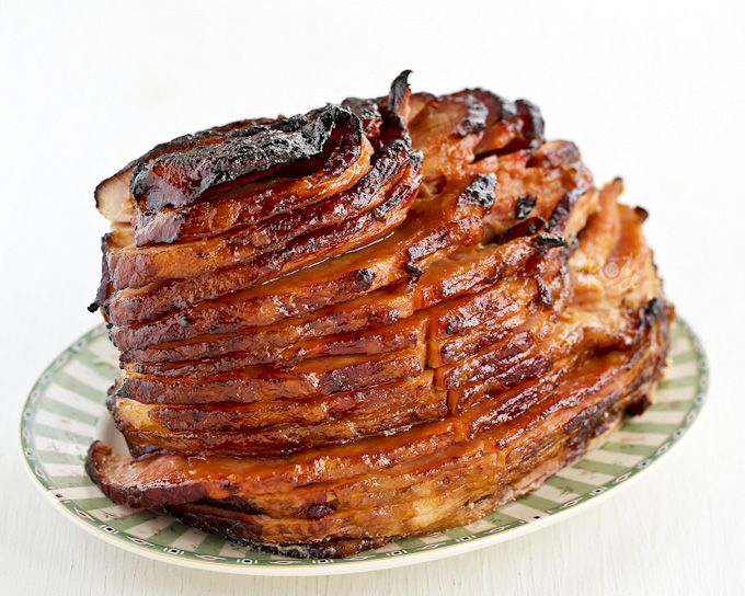 Beautifully caramelized Baked Ham with Pineapple Brown Sugar Glaze for Easter or Sunday supper. Feeds a crowd and takes only minutes of hands on prep time.