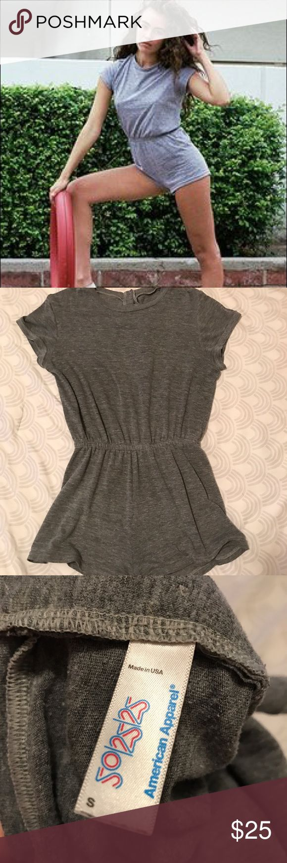 American Apparel tshirt romper Super soft and comfy AA t shirt romper. Well loved but still in excellent condition. Absolute staple for summer! American Apparel Shorts