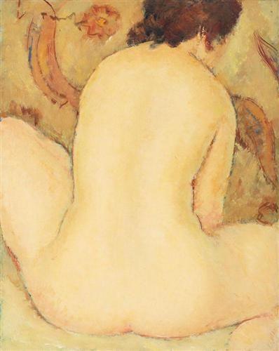 Back Nude - Nicolae Tonitza