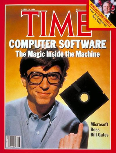 Bill Gates' first TIME cover, April 16th, 1984