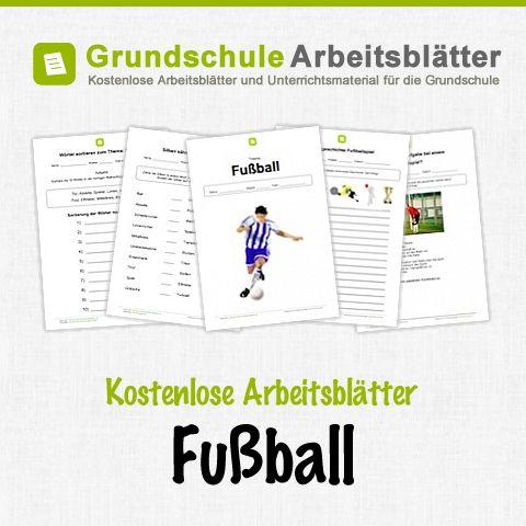 Kostenlose Arbeitsblätter und Unterrichtsmaterial zum Thema Fußball in der Grundschule.