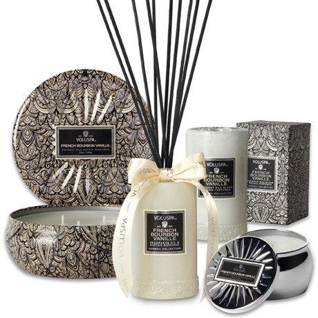 Populære duftlys og duftpinner fra Voluspa!