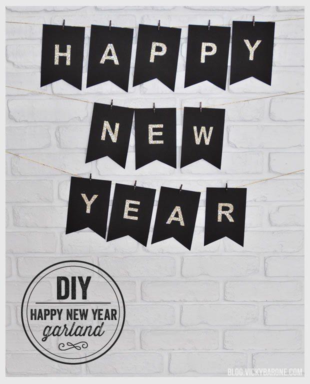 #DIY #HappyNewYear Garland - Deko für die Party!