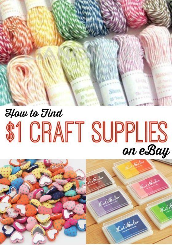 How to Find $1 Craft Supplies on eBay