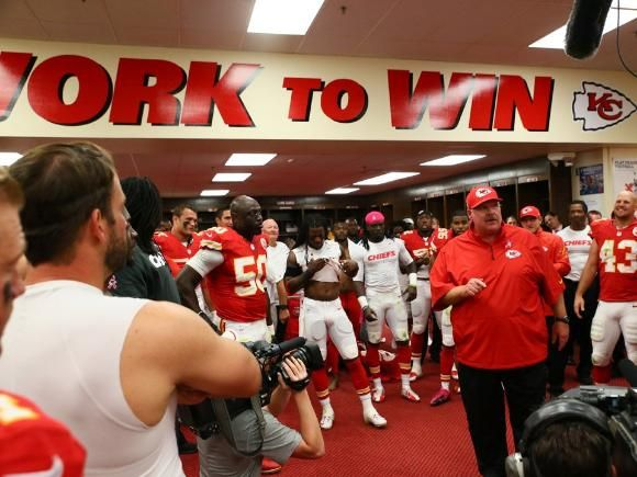 """Highlight Photos: Chiefs vs Raiders >>> """"How about those Chiefs?"""" ~ Andy Reid in the locker room to the team after each win! 6-0, baby!"""