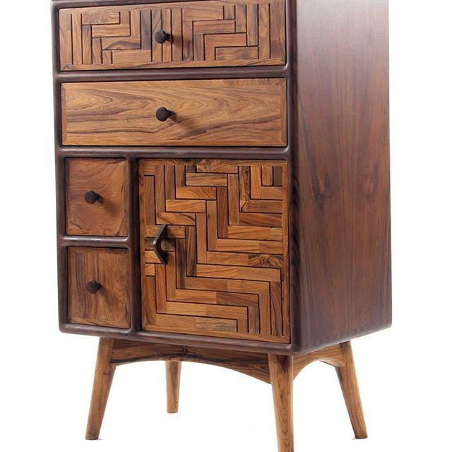 Small #wooden #cabinet With #drawers Made With #teakwood