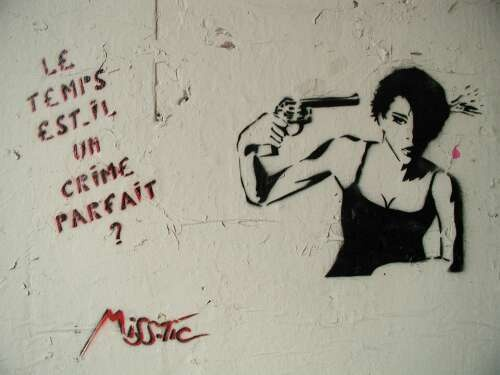 Street art by Miss.Tic. @Todd Martin looks similar to the one we found in New Orleans awhile back