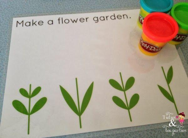 Tutus and Tea Parties: DIY Play Dough Mats | Free Printables (preschool or kindergarten)