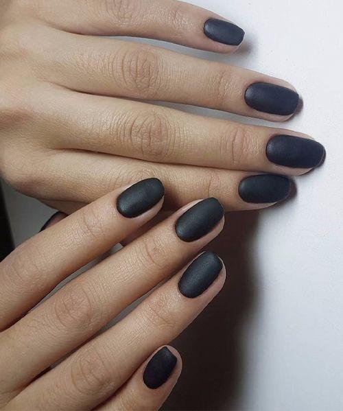 Fabulous Matte Black Nail Art Designs