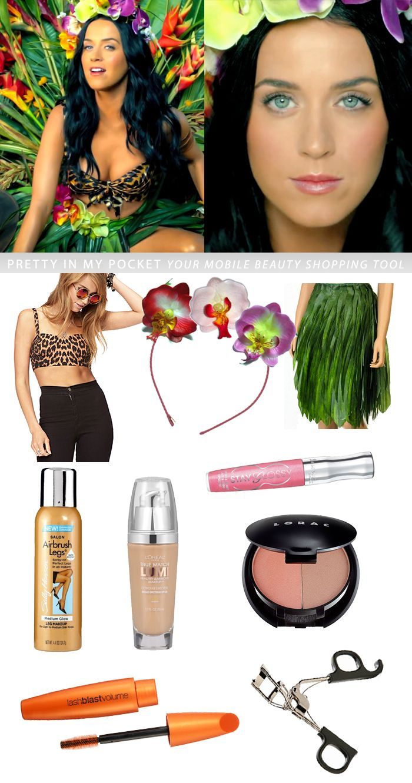 Halloween 2013 Costume Idea! Katy Perry ROAR video #makeup #hair #costume