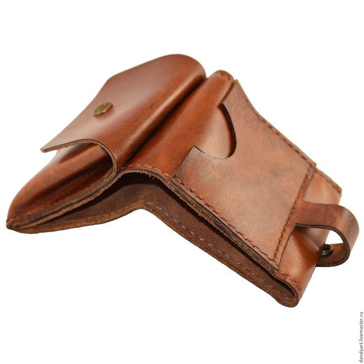 """Купить Кошелек """"Компакт"""" - коричневый, кошелек, кошелек из кожи, ручная работа, мини кошелек"""