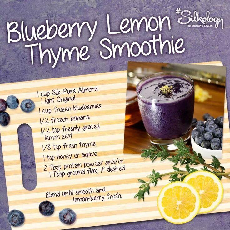 Blueberry lemon thyme smoothie | Recipes - Smoothies | Pinterest