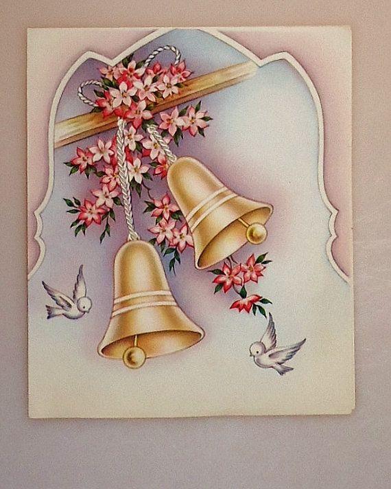 MISSION BELLS-DOVES Wedding Card
