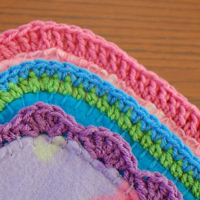 crochet edging for fleece blankets-What a great idea for a gift if you don't have time to crochet a whole blanket.