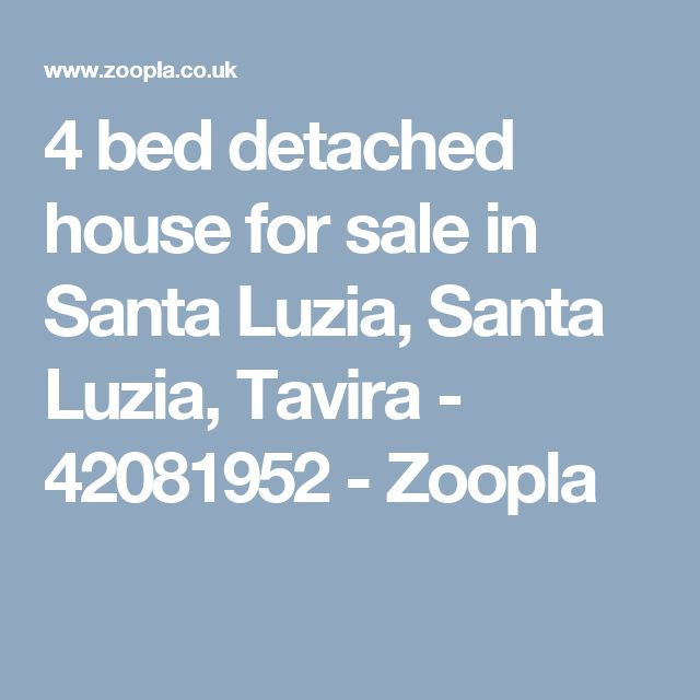 4 bed detached house for sale in Santa Luzia, Santa Luzia, Tavira - 42081952 - Zoopla