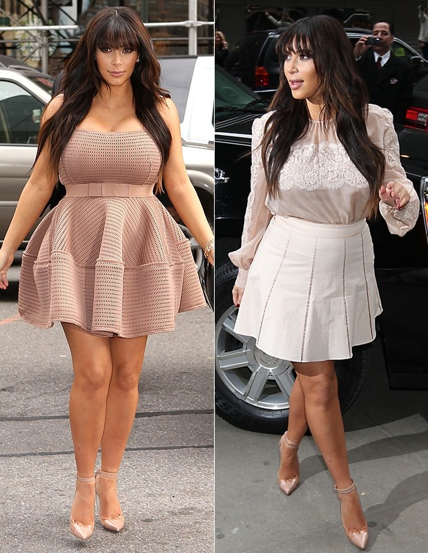 Os dois looks de Kim Gravida e Linda:
