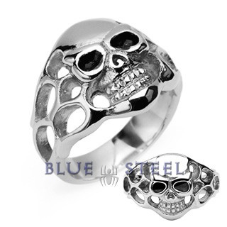 PIN IT TO WIN IT! Burning Skull: This powerfull design will surely amaze anybody's eyes with the skull and flames that will bring out the rage. Surgical Stainless Steel Skull w/Side Flames Ring $39.99  www.buybluesteel.com