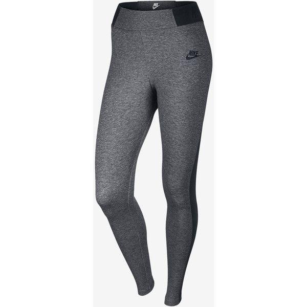 Nike Heathered T2 Women's Leggings. Nike.com ($70) ❤ liked on Polyvore featuring pants, leggings, nike pants, womens trousers, nike leggings and men pants
