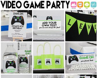 Video Game Party INSTANT Download Gamer by PrintableStudio505