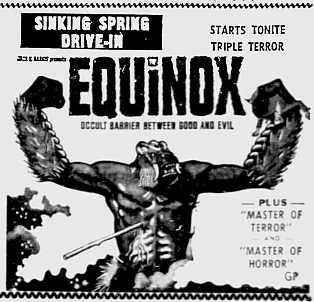 30 best images about drive ins movies on pinterest the fog frankenstein and movie sounds - Equinoxe film x ...