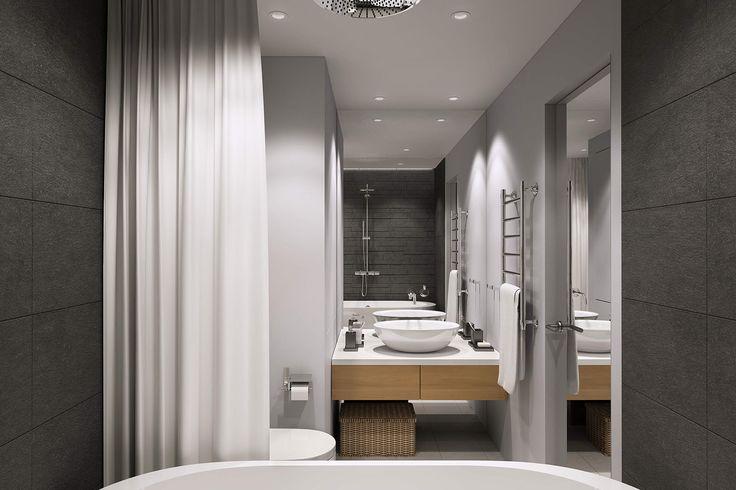 современный дизайн ванной комнаты 4,7 кв. м.
