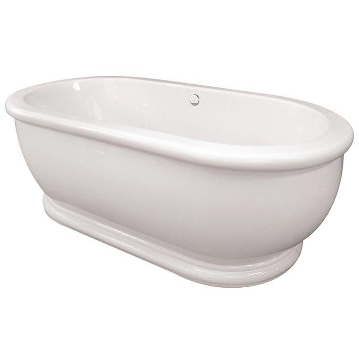 Hydro Systems Domingo 5.5 ft. Acrylic Flatbottom Non-Whirlpool Air Bath Freestanding Bathtub in White