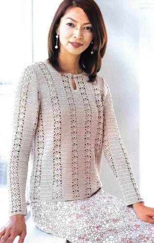 Crochetpedia: Whole bunch of women's tops free patterns