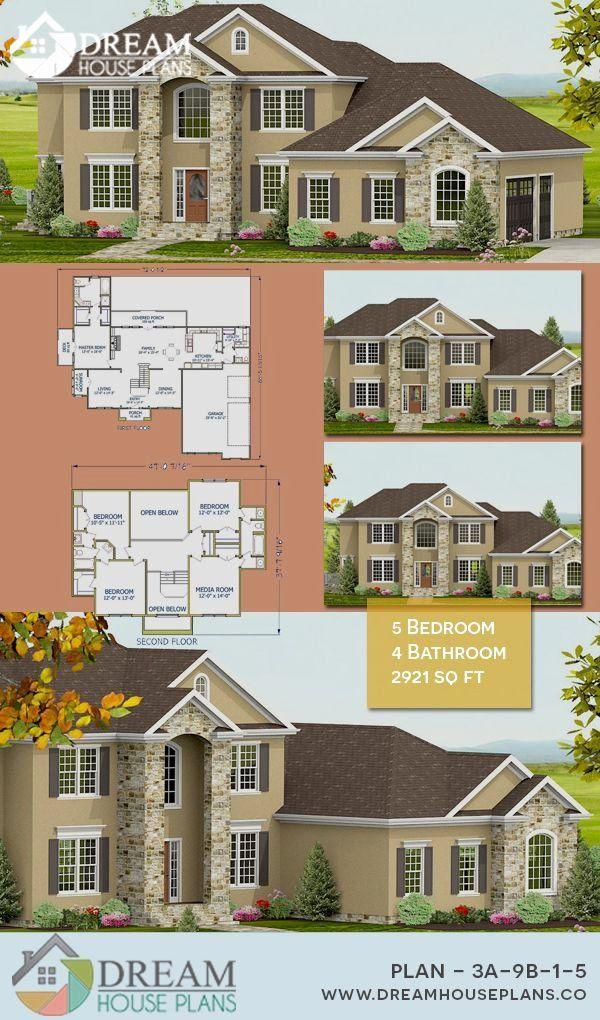 5 Bedroom Colonial House Plans Unique Dream House Plans Simple Yet Luxury Colonial 5 Bedroom Dream House Plans Southern House Plans House Plans
