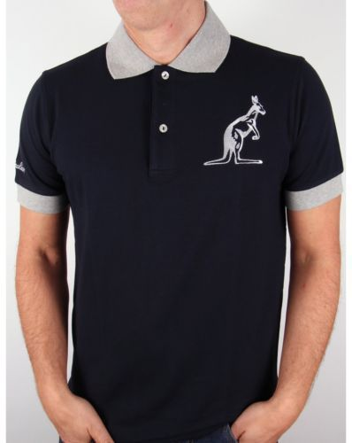 #Australian by l'alpina - #kangaroo logo polo #shirt in dark navy & grey - sale,  View more on the LINK: http://www.zeppy.io/product/gb/2/371535285767/