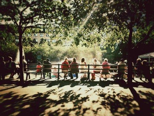 People enjoying the sun.