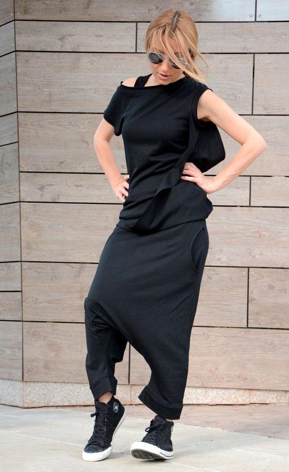 Women Harem Pants / Womens Pants / Drop Crotch Pants / by Adeptt