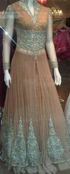 peach and silver lengha