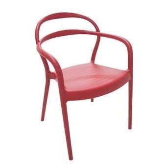 Cadeira Sissi De Polipropileno E Fibra De Vidro Cor Vermelha Tramontina