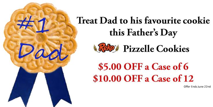 Father's Day Sale! www.pizzellecookies.com #fathersdaygift #Repin #pizzelle #cookies