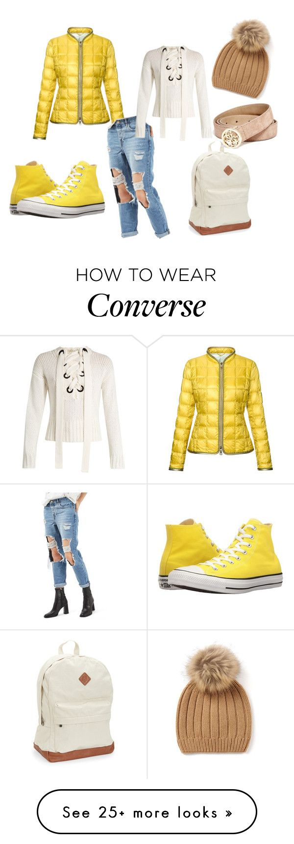 """:)"" by rabija-salkic-imamovic on Polyvore featuring FAY, Topshop, Joseph, Converse, Aéropostale and GUESS"