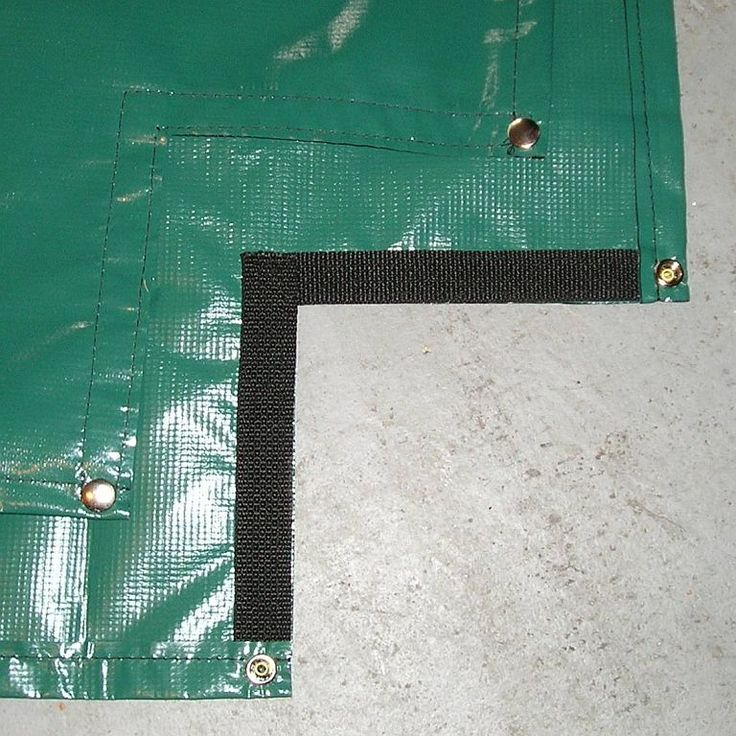 Reinforced Cutouts and grommets for sandbox cover!