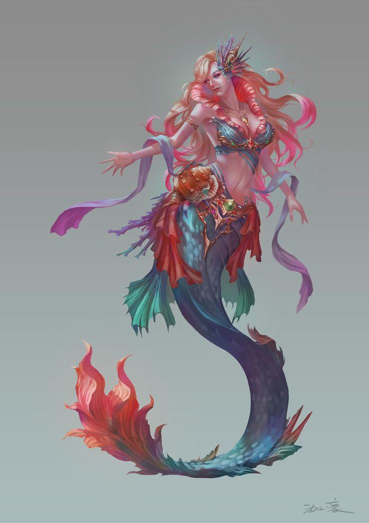 Mermaid, Takashi Tan on ArtStation at https://www ...