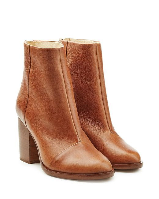 Rag & Bone | Brown Leather Ankle Boots | Lyst