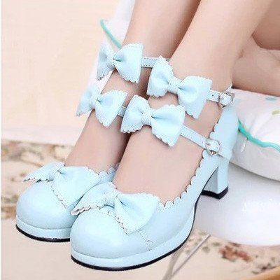"Japanese sweet lolita princess cosplay bowknot heels Coupon code ""cutekawaii"" for 10% off"