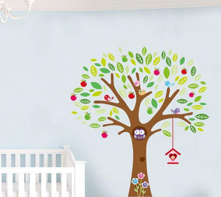 Väggdekor med Uggla i träd