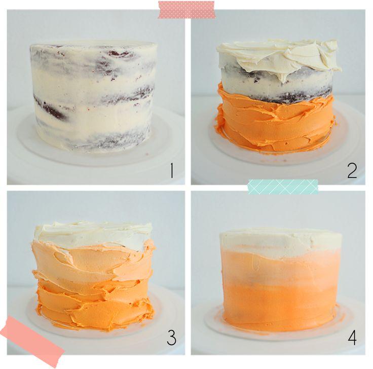 Degrade cake tutorial