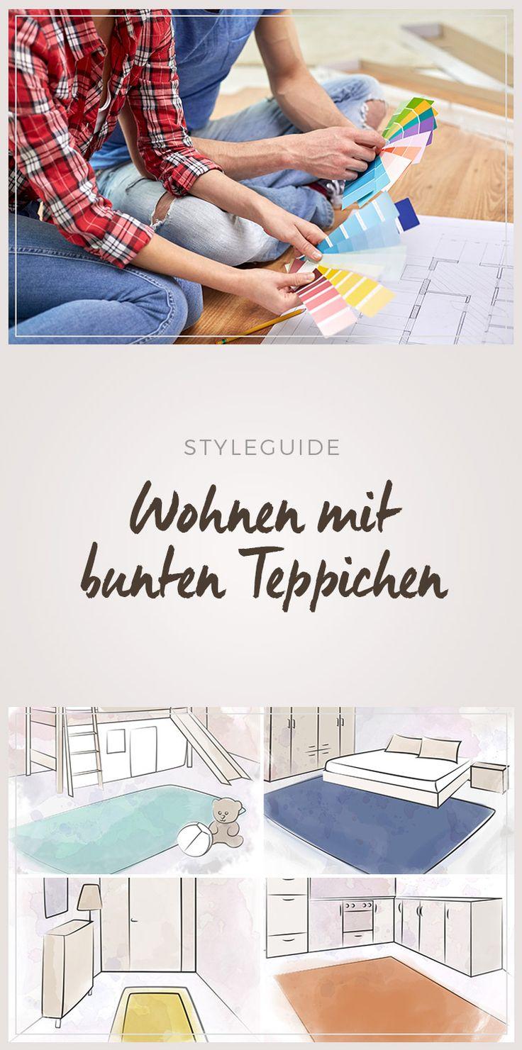 Wohnen mit bunten Teppichen - Farben und ihre Bedeutung